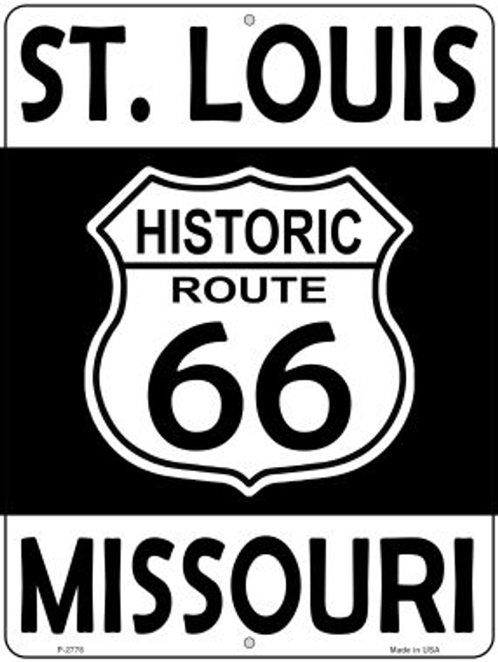 St Louis Missouri Historic Route 66 Novelty Metal Parking Sign P-2778