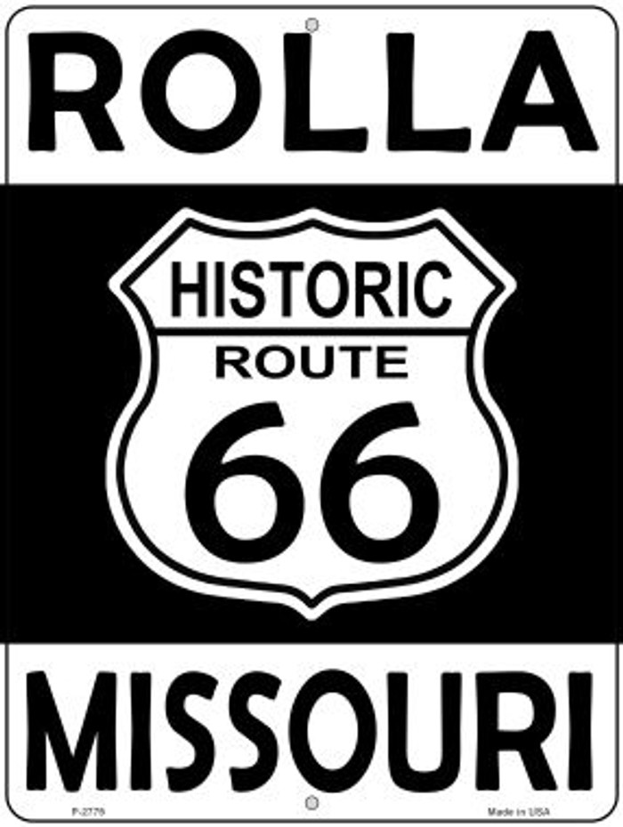 Rolla Missouri Historic Route 66 Novelty Metal Parking Sign P-2779