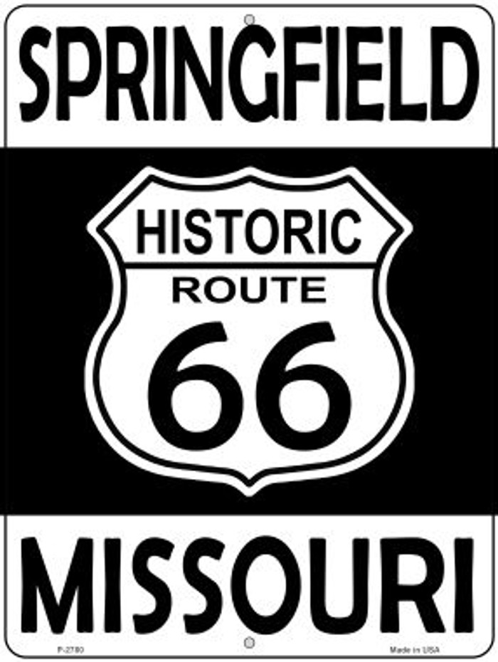 Springfield Missouri Historic Route 66 Novelty Metal Parking Sign P-2780