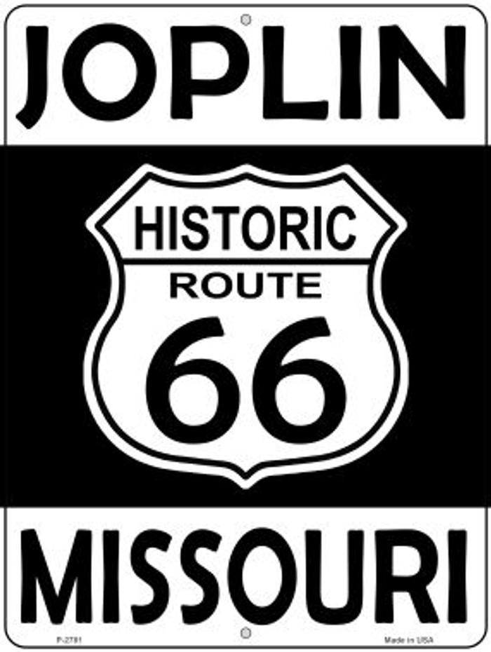 Joplin Missouri Historic Route 66 Novelty Metal Parking Sign P-2781