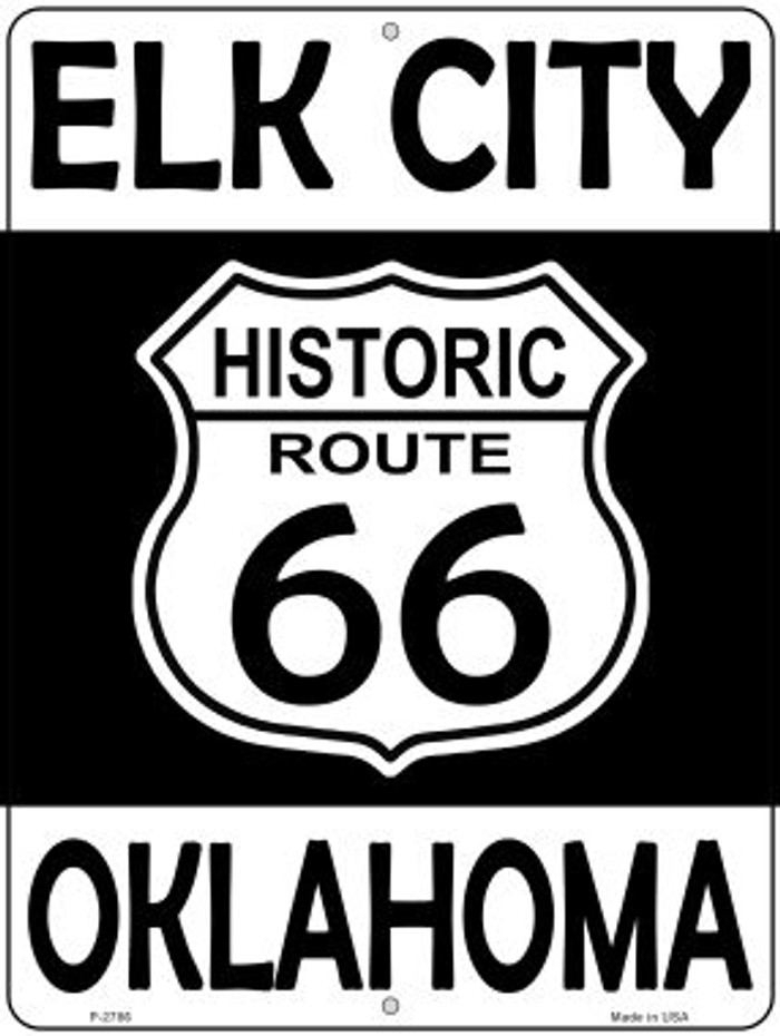 Elk City Oklahoma Historic Route 66 Novelty Metal Parking Sign P-2786