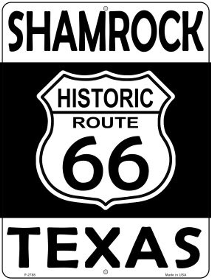 Shamrock Texas Historic Route 66 Novelty Metal Parking Sign P-2788