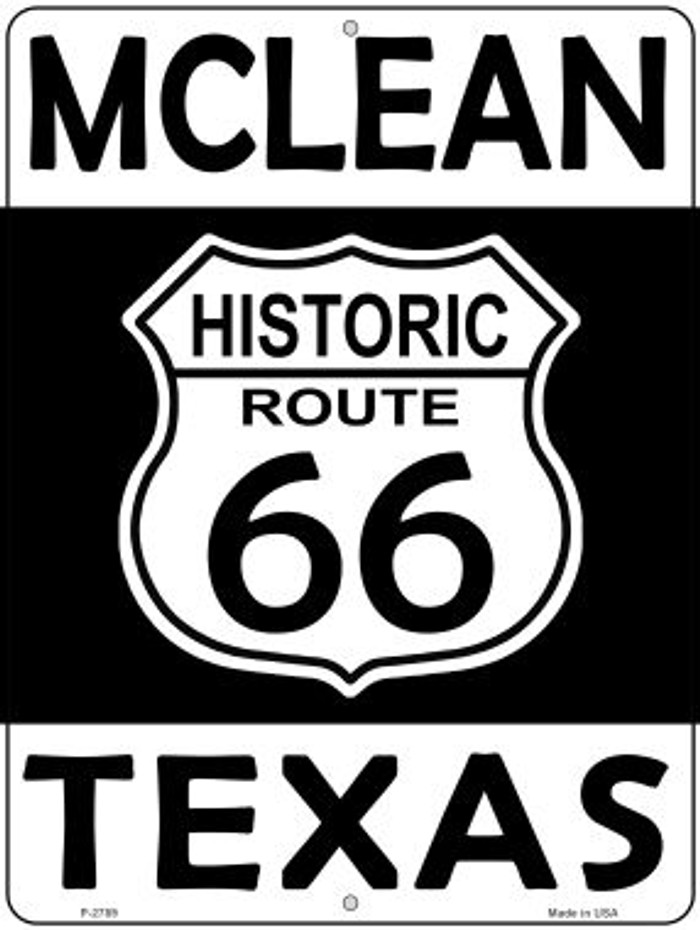 McLean Texas Historic Route 66 Novelty Metal Parking Sign P-2789