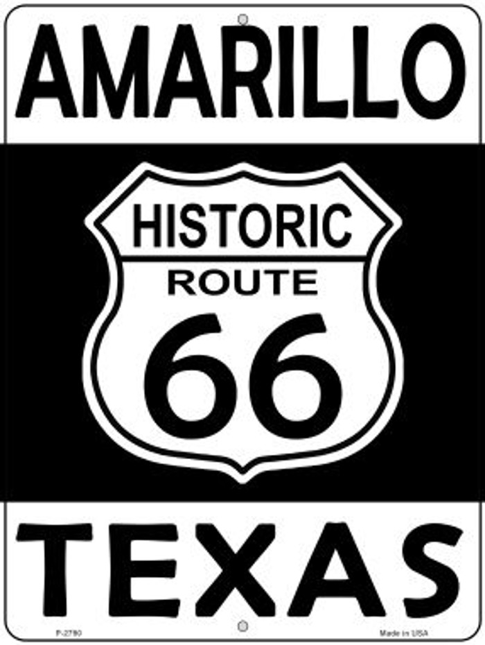 Amarillo Texas Historic Route 66 Novelty Metal Parking Sign P-2790