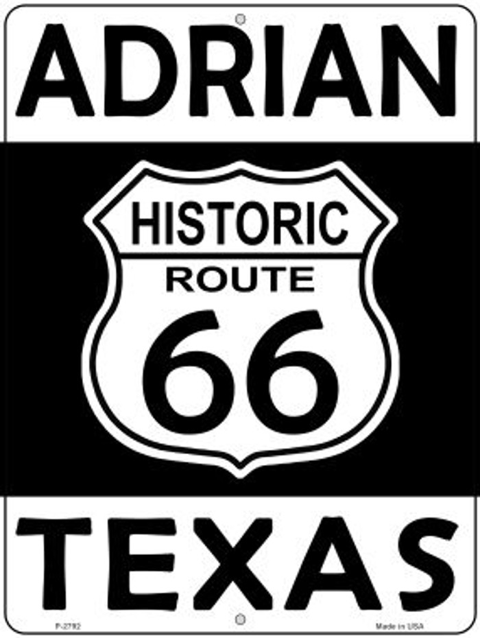 Adrian Texas Historic Route 66 Novelty Metal Parking Sign P-2792