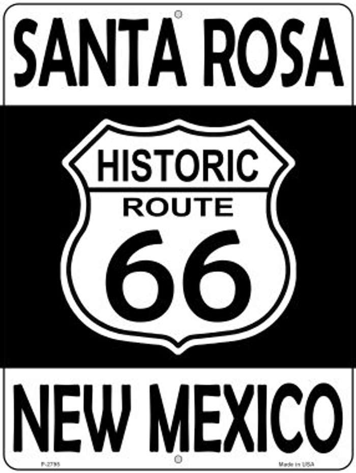 Santa Rosa New Mexico Historic Route 66 Novelty Metal Parking Sign P-2795