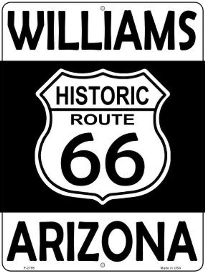Williams Arizona Historic Route 66 Novelty Metal Parking Sign P-2799