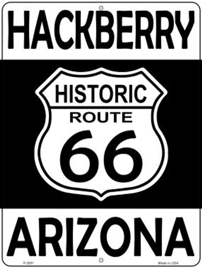 Hackberry Arizona Historic Route 66 Novelty Metal Parking Sign P-2801