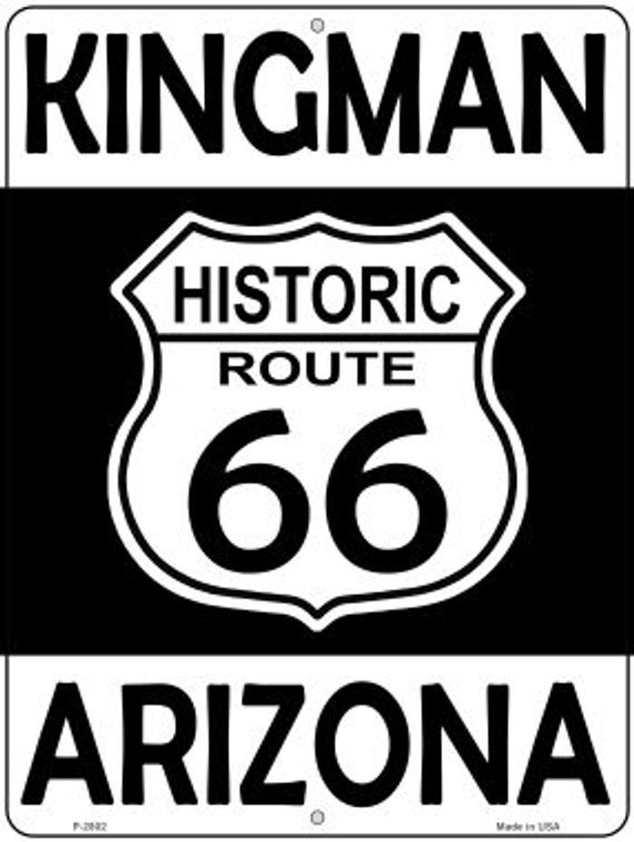Kingman Arizona Historic Route 66 Novelty Metal Parking Sign P-2802