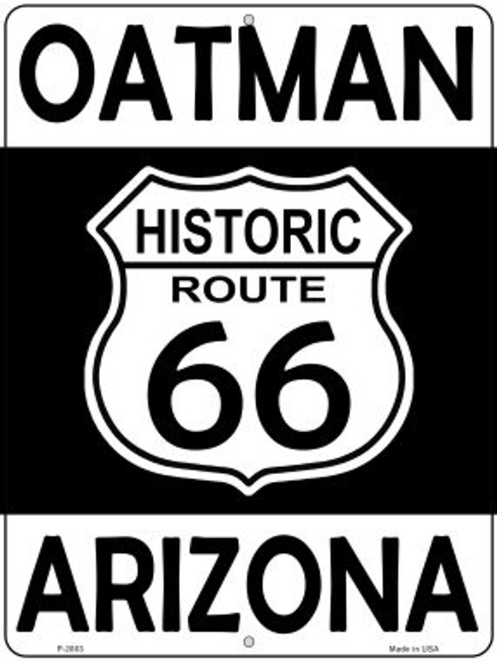 Oatman Arizona Historic Route 66 Novelty Metal Parking Sign P-2803