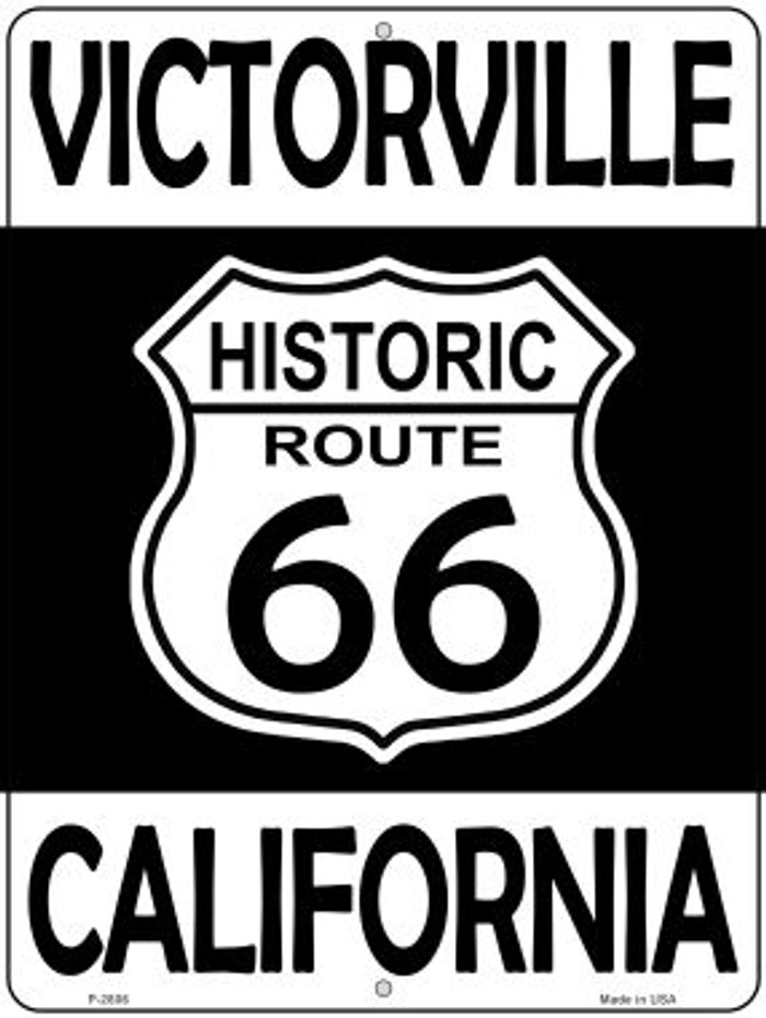 Victorville California Historic Route 66 Novelty Metal Parking Sign P-2806