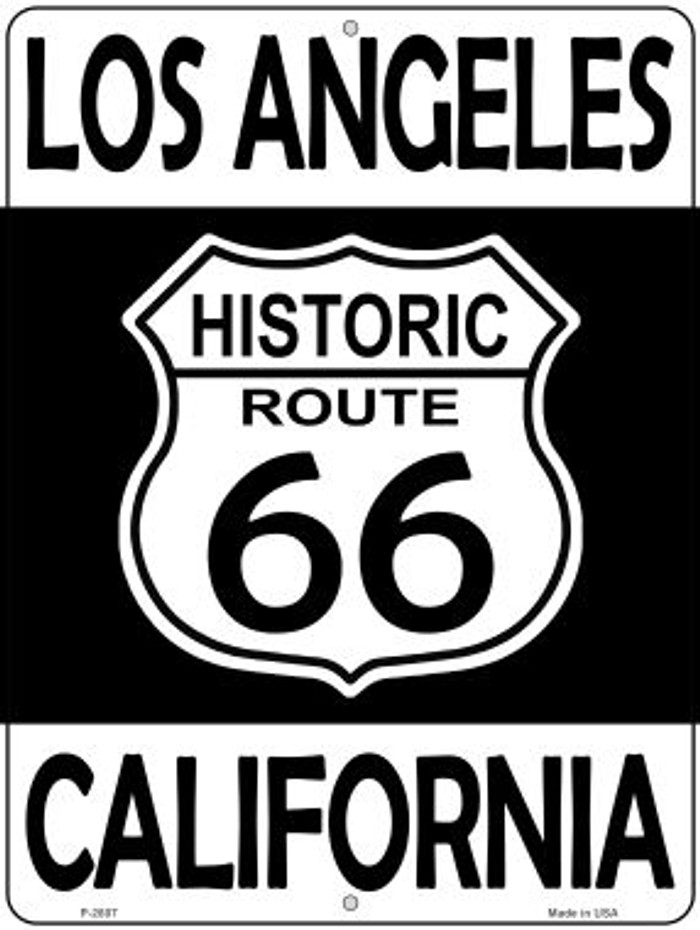 Los Angeles California Historic Route 66 Novelty Metal Parking Sign P-2807
