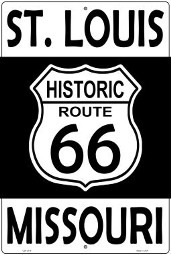 St Louis Missouri Historic Route 66 Novelty Metal Large Parking Sign LGP-2778
