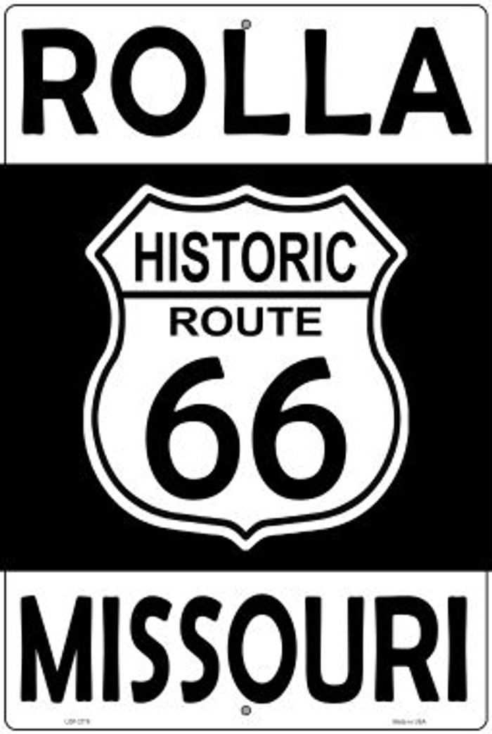 Rolla Missouri Historic Route 66 Novelty Metal Large Parking Sign LGP-2779