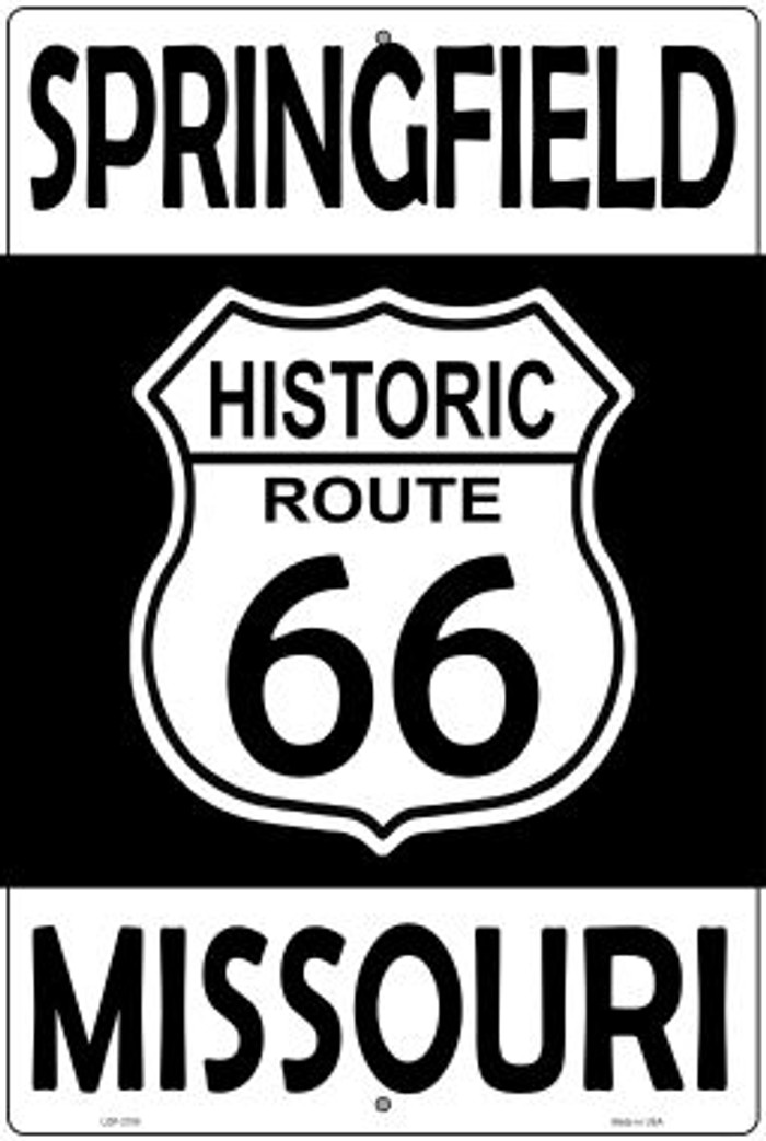 Springfield Missouri Historic Route 66 Novelty Metal Large Parking Sign LGP-2780