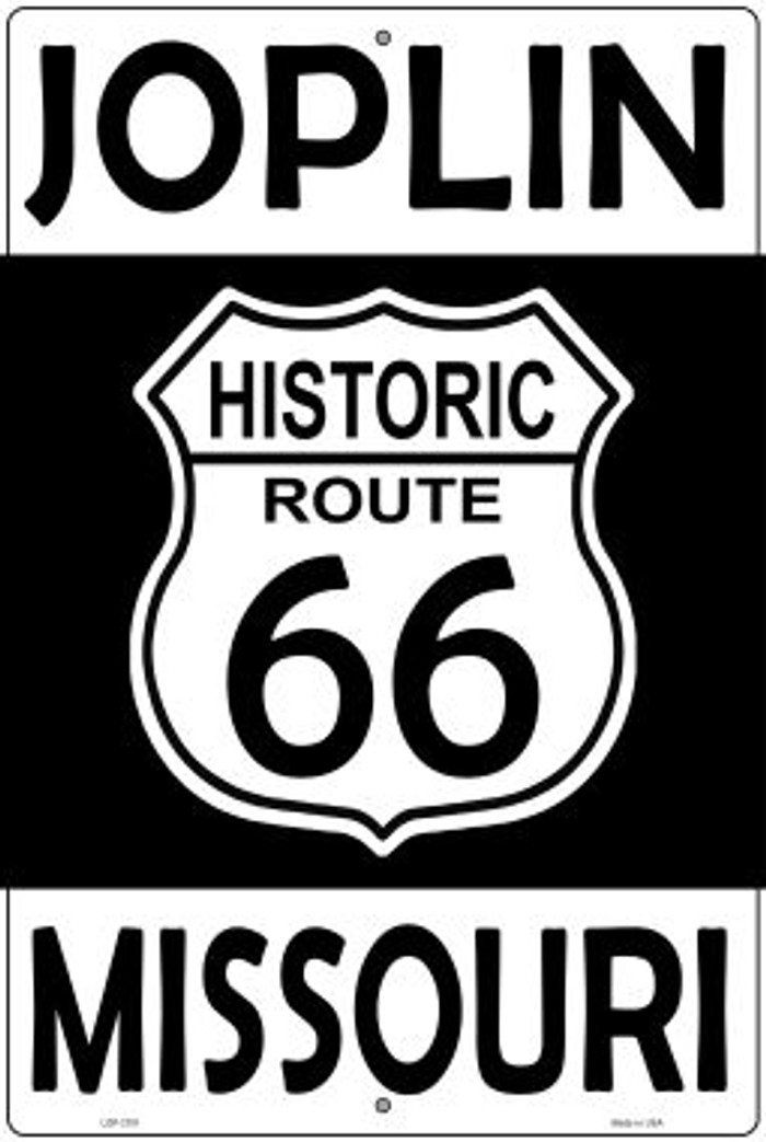 Joplin Missouri Historic Route 66 Novelty Metal Large Parking Sign LGP-2781