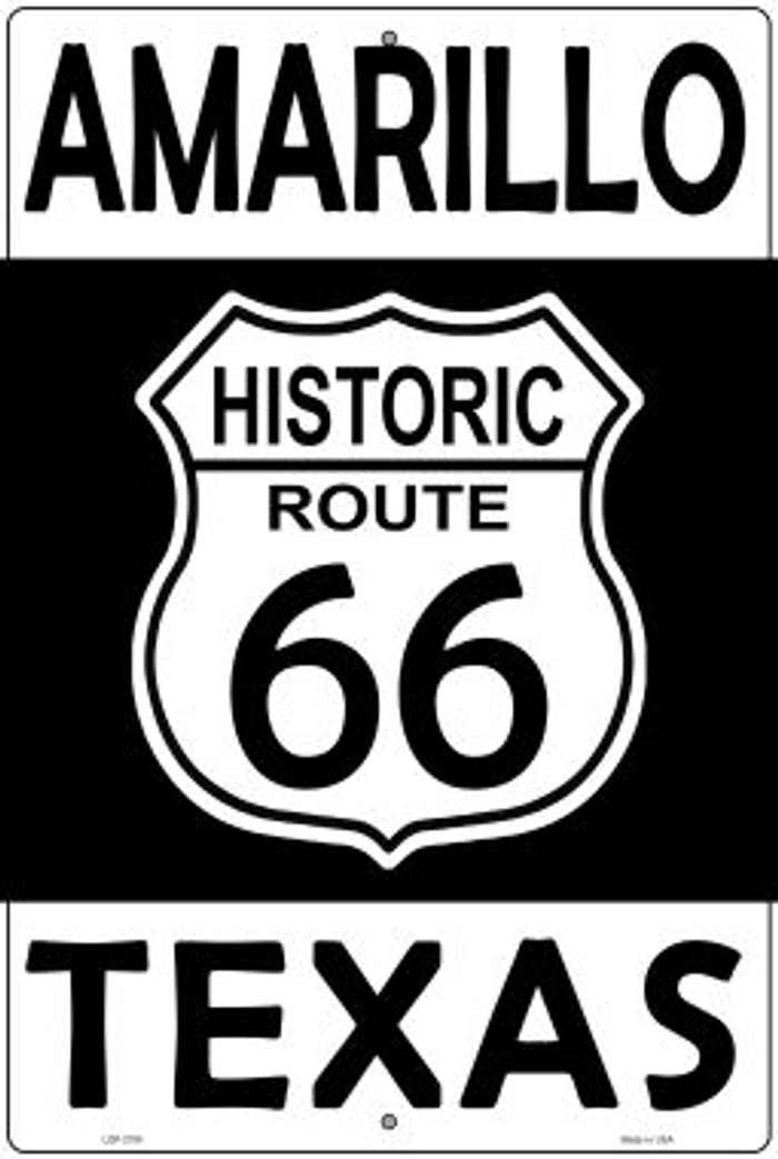 Amarillo Texas Historic Route 66 Novelty Metal Large Parking Sign LGP-2790