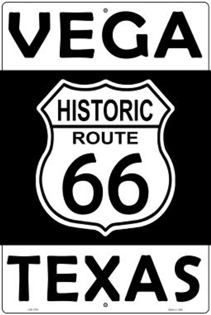 Vega Texas Historic Route 66 Novelty Metal Large Parking Sign LGP-2791