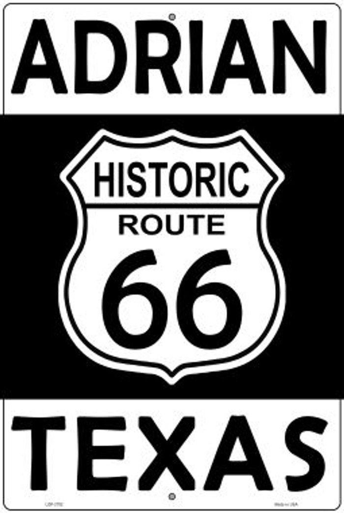 Adrian Texas Historic Route 66 Novelty Metal Large Parking Sign LGP-2792