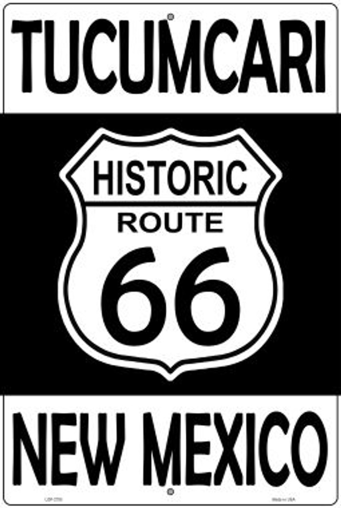 Tucumcari New Mexico Historic Route 66 Novelty Metal Large Parking Sign LGP-2793