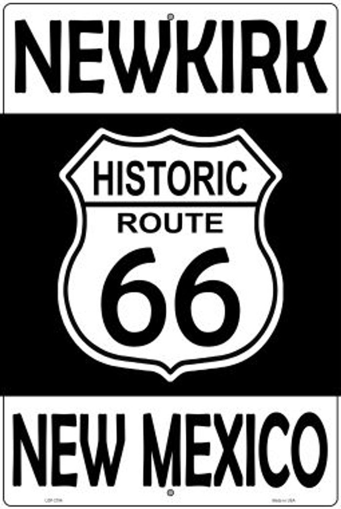 Newkirk New Mexico Historic Route 66 Novelty Metal Large Parking Sign LGP-2794