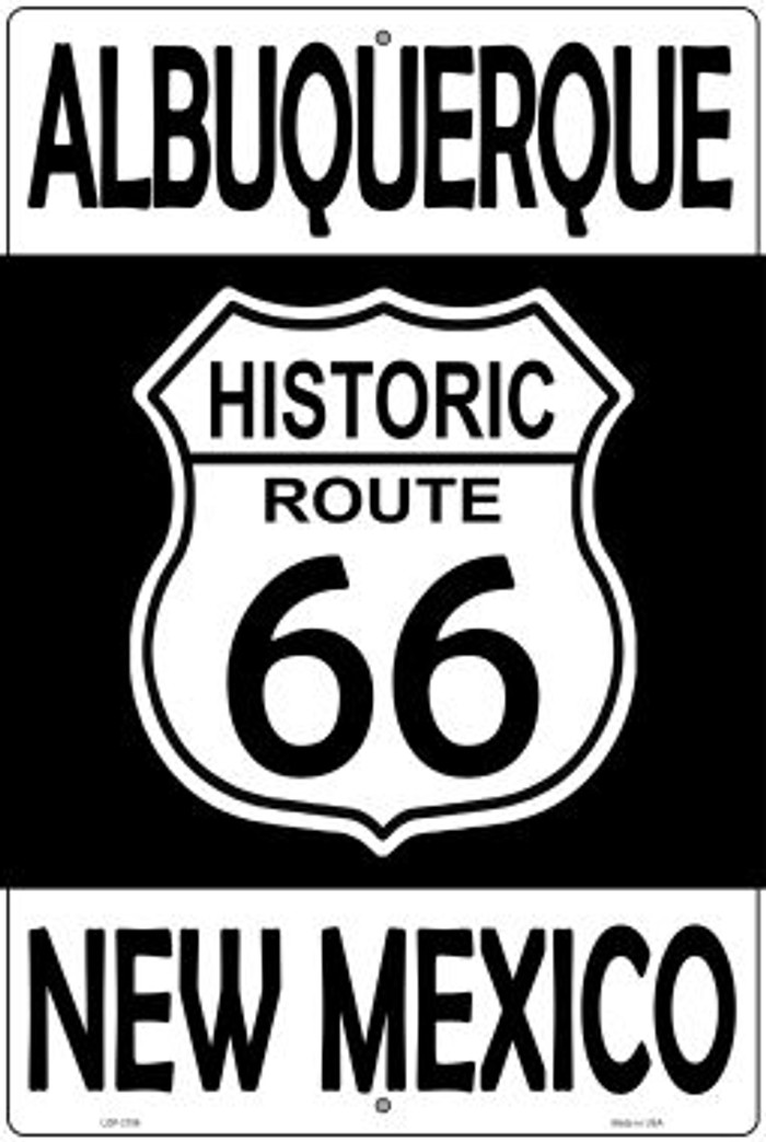 Albuquerque New Mexico Historic Route 66 Novelty Metal Large Parking Sign LGP-2796