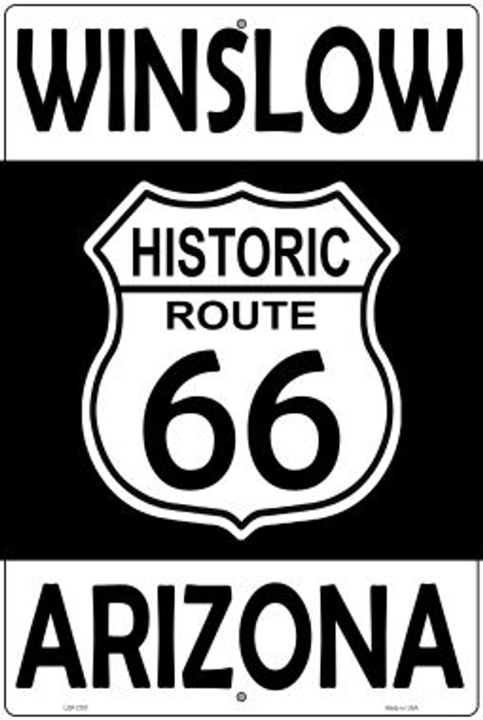 Winslow Arizona Historic Route 66 Novelty Metal Large Parking Sign LGP-2797