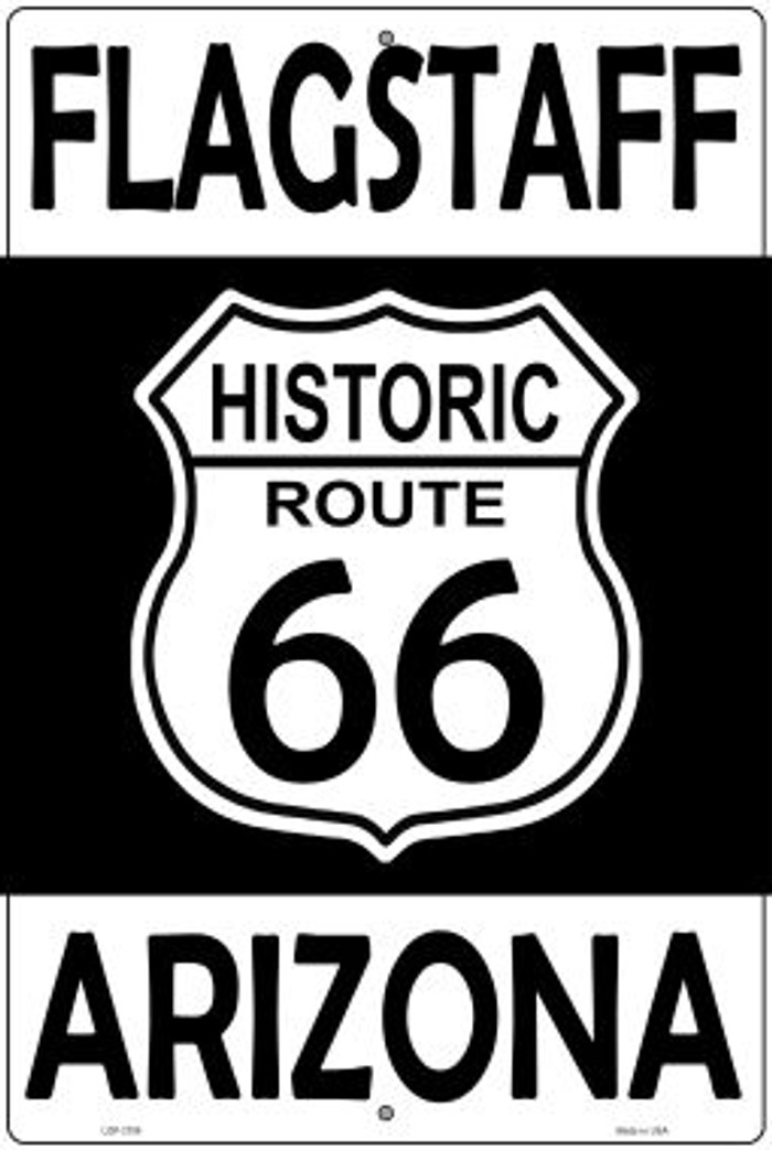 Flagstaff Arizona Historic Route 66 Novelty Metal Large Parking Sign LGP-2798