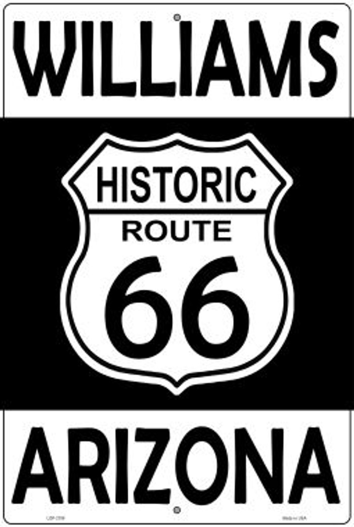 Williams Arizona Historic Route 66 Novelty Metal Large Parking Sign LGP-2799