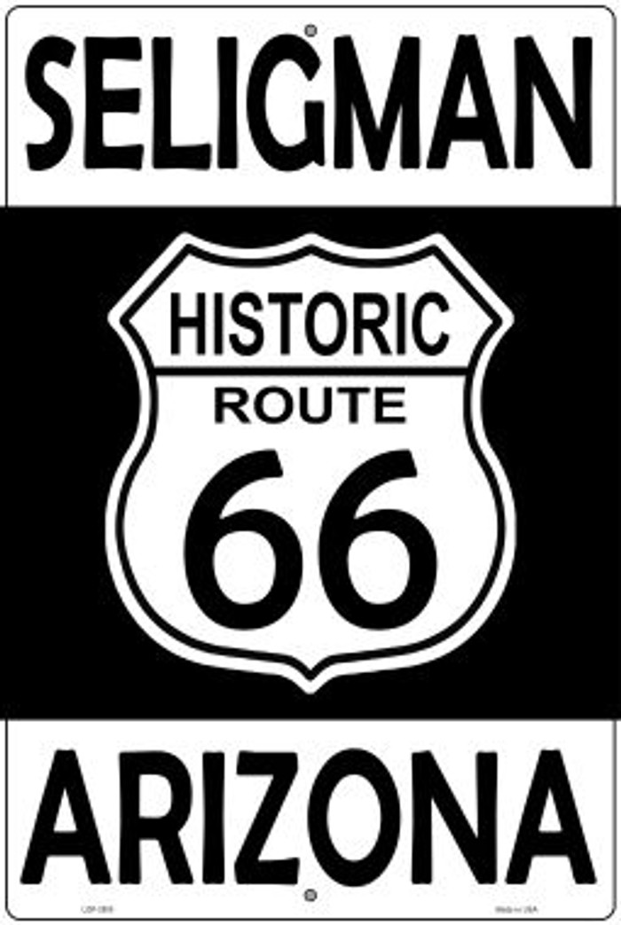 Seligman Arizona Historic Route 66 Novelty Metal Large Parking Sign LGP-2800