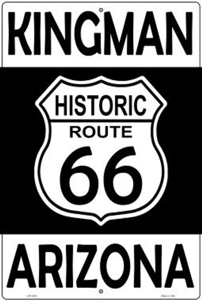 Kingman Arizona Historic Route 66 Novelty Metal Large Parking Sign LGP-2802