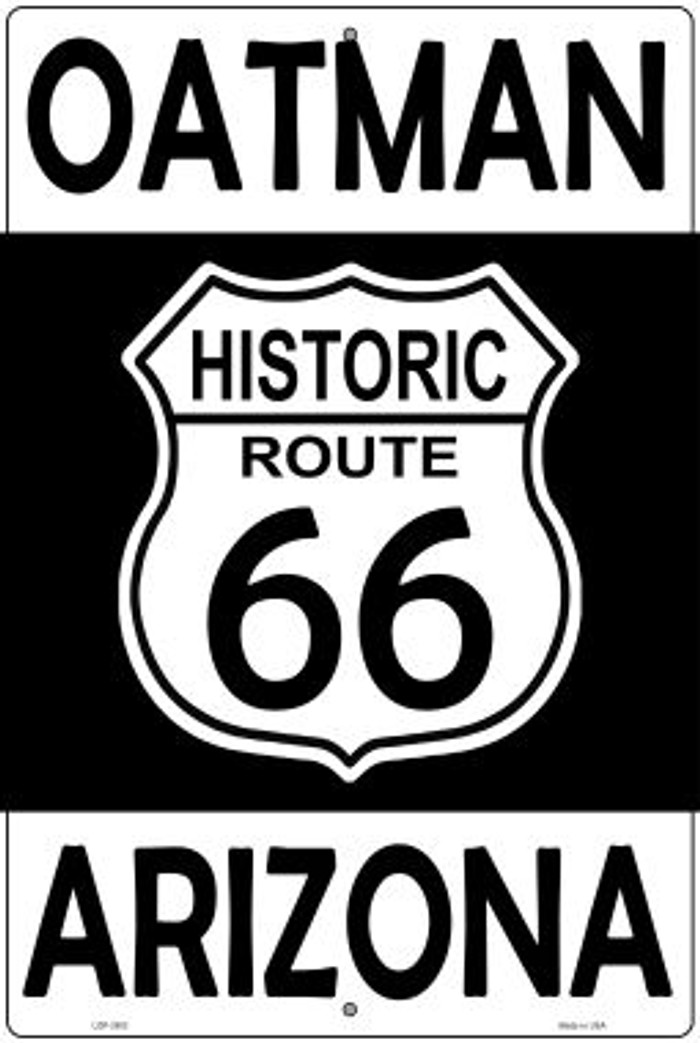 Oatman Arizona Historic Route 66 Novelty Metal Large Parking Sign LGP-2803