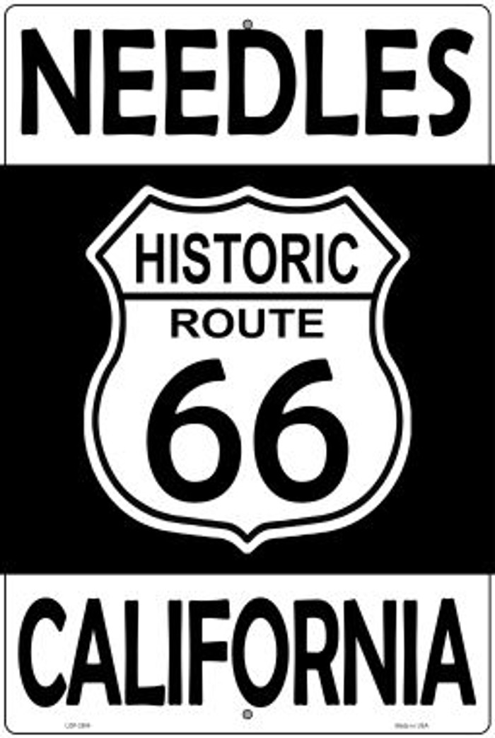 Needles California Historic Route 66 Novelty Metal Large Parking Sign LGP-2804