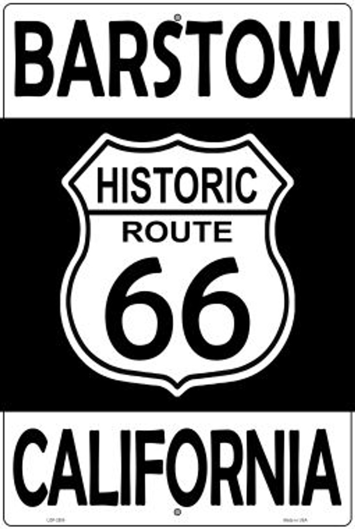 Barstow California Historic Route 66 Novelty Metal Large Parking Sign LGP-2805