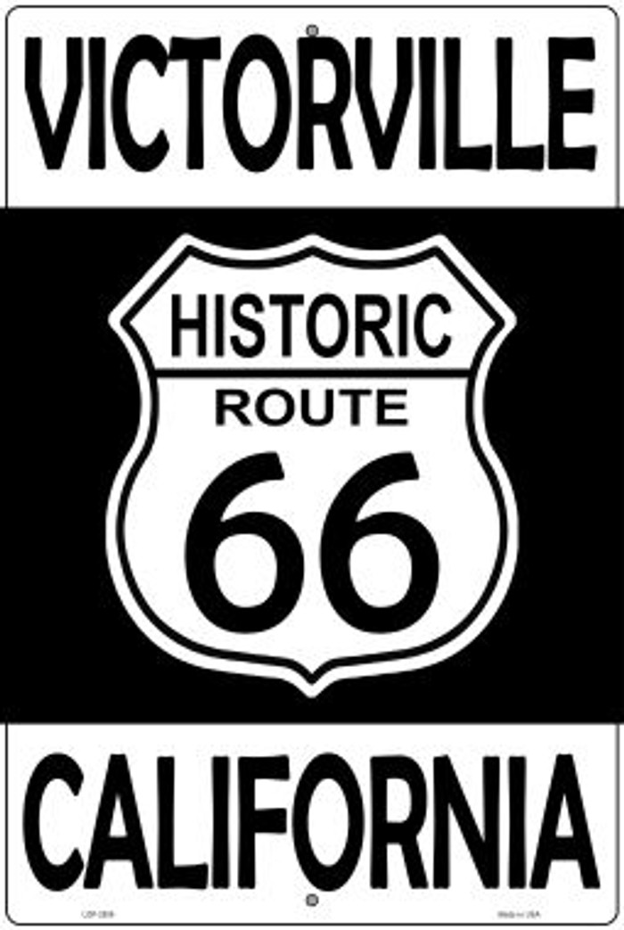 Victorville California Historic Route 66 Novelty Metal Large Parking Sign LGP-2806