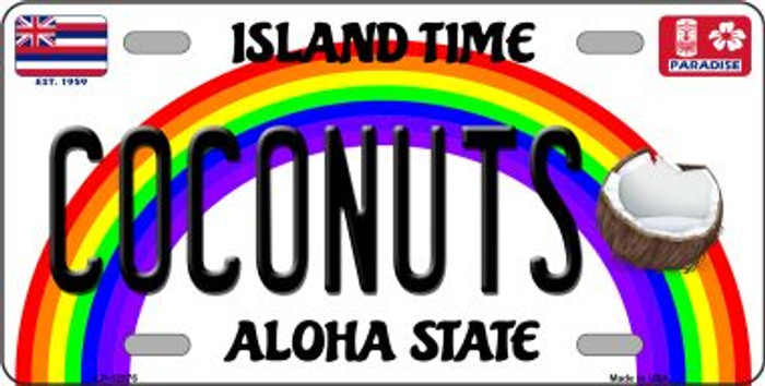 Coconuts Novelty Metal License Plate LP-12576