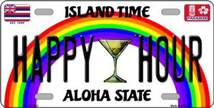 Happy Hour Novelty Metal License Plate LP-12582