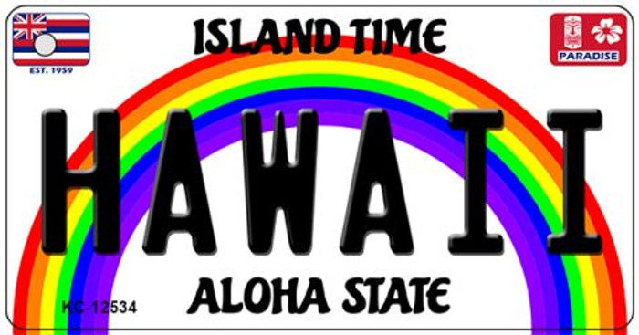 Hawaii Novelty Metal Key Chain KC-12534