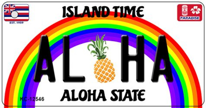 Aloha Pineapple Novelty Metal Key Chain KC-12546