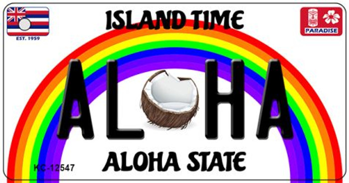 Aloha Coconut Novelty Metal Key Chain KC-12547