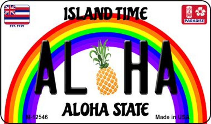 Aloha Pineapple Novelty Metal Magnet M-12546