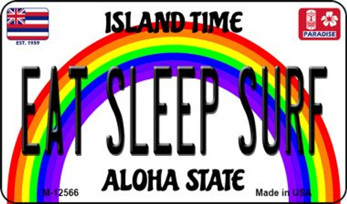Eat Sleep Surf Novelty Metal Magnet M-12566