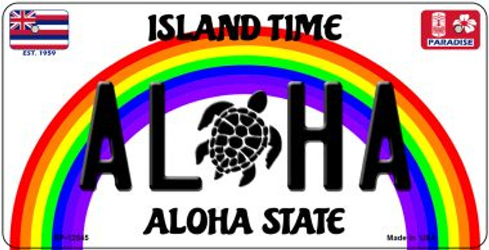 Aloha Turtle Novelty Metal Bicycle Plate BP-12545