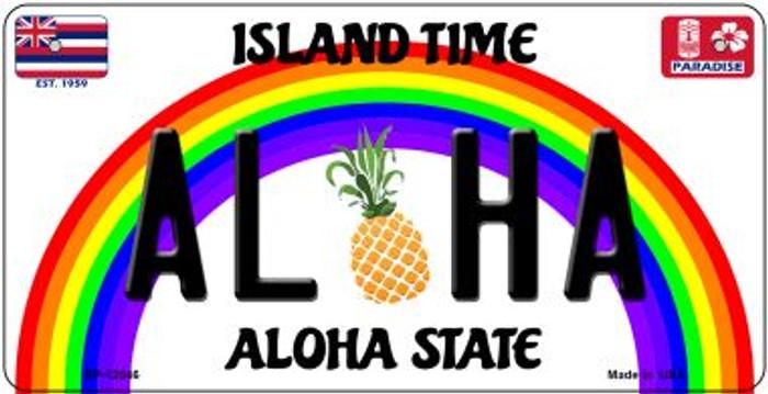 Aloha Pineapple Novelty Metal Bicycle Plate BP-12546