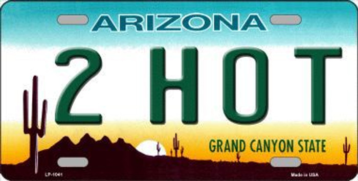 2 Hot Arizona Novelty Metal License Plate