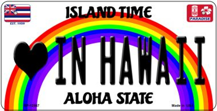 Love In Hawaii Novelty Metal Bicycle Plate BP-12567