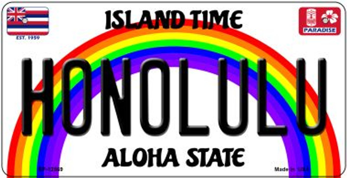 Honolulu Novelty Metal Bicycle Plate BP-12569