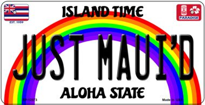Just Mauid Novelty Metal Bicycle Plate BP-12573