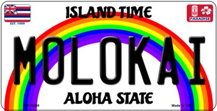 Molokai Novelty Metal Bicycle Plate BP-12608