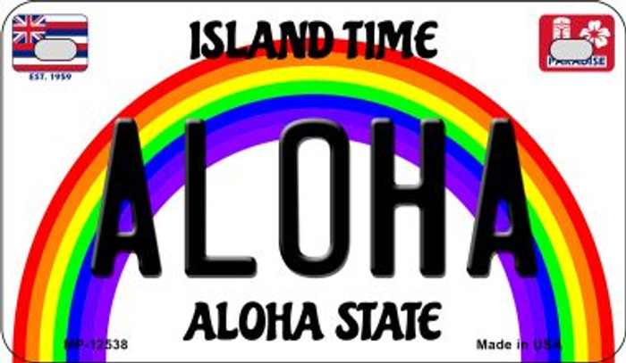 Aloha Novelty Metal Motorcycle Plate MP-12538
